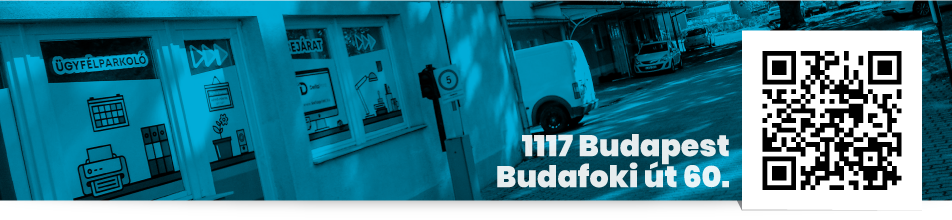 DELLA PRINT Kft. cím QR – 1117 Budapest, Budafoki út 60.