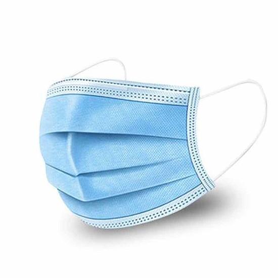 3 rétegű egészségügyi szájmaszk, gumis rögzítéssel, 50 db/csomag