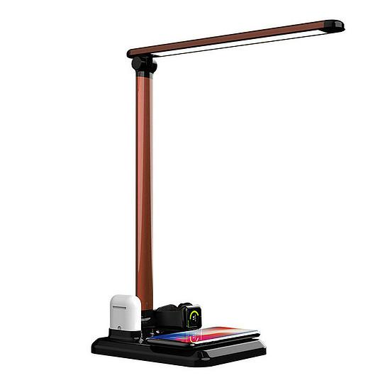 Asztali LED lámpa vezeték nélküli töltőpaddal, 3 fényerő szinttel, fekete (G-N01-BLACK)