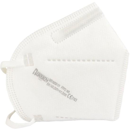 FFP2 KN95 maszk 1 db-os csomagolásban,fehér, CE jelöléssel
