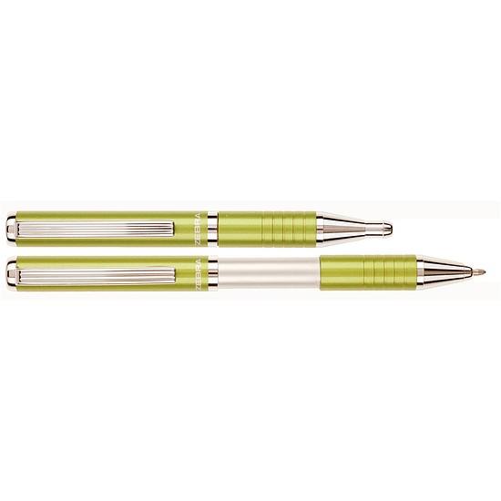 Zebra SL-F1 összecsukható golyóstoll metál tea zöld, fém, kupakos